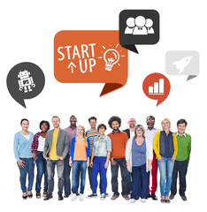 Diverse People and Startup Business Concept