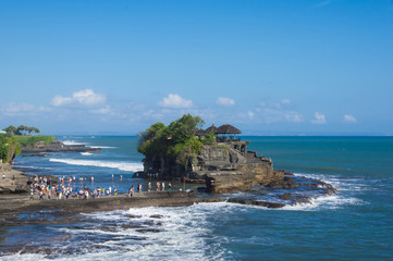Temple in the sea (Pura Tanah Lot). Bali, Indonesia