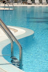 Swimming pool ladder, Resort hotel,Denia, Alicante, Spain