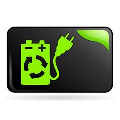 recharger sur bouton web rectangle vert