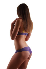 woman with a sexy body in underwear
