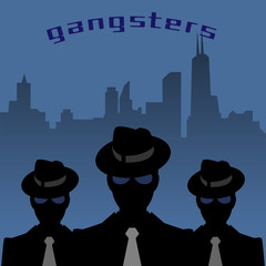 Abstract mafia or gangster background, vector