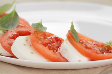 light traditional caprese salad