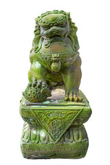 Emerald lion statues
