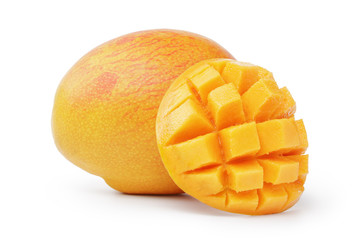 ripe yellow red mango