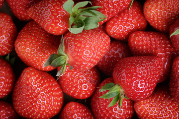 fresh ripe strawberries background