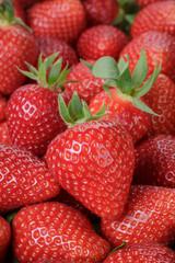 fresh strawberries close up