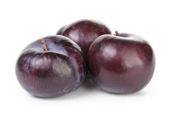 three black plums