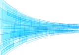 Fotoroleta Blue abstract technology