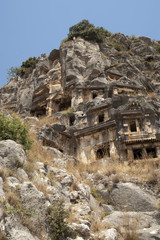Rock-cut tombs in Myra, Demre, Turkey, Scene 4