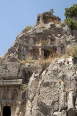 Rock-cut tombs in Myra, Demre, Turkey, Scene 2