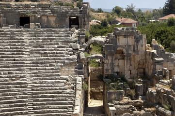 Greco-Roman amphitheater in Myra, Demre, Turkey, Scene 1