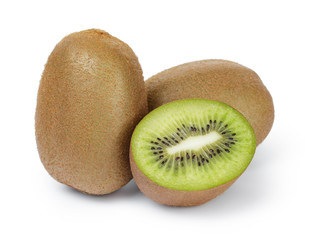 fresh ripe kiwi fruits