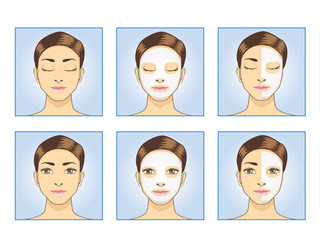 Facial mask full face and half face