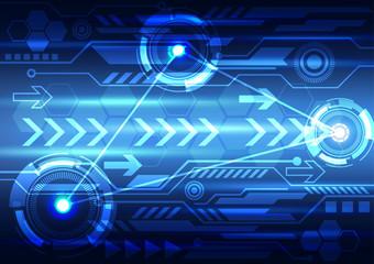 abstract digital technology design