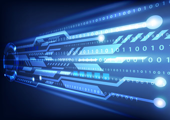 digital technology background vector illustration