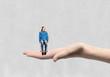 Miniature of teenager girl