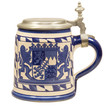 canvas print picture - Isolated Vintage Bavarian Beer Stein II
