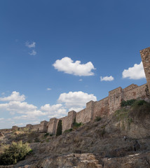 Alcazaba castle on Gibralfaro mountain. Malaga, Andalusia, Spain