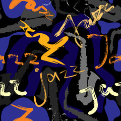 Music jazz pattern