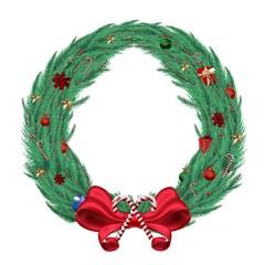 Digitally generated green christmas wreath