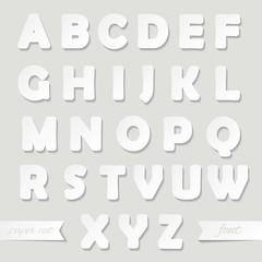 Paper cut font.