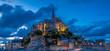Evening view at the Mont Saint-Michel