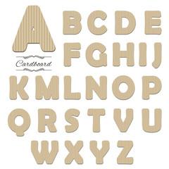 Cardboard font.