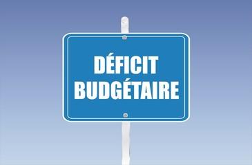 panneau déficit budgétaire