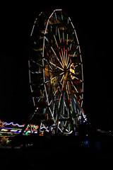 Ferris wheel amusement park night