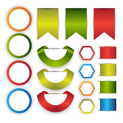 web ribbon/bookmark set