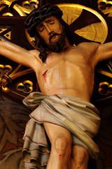 jesus on the cross baroque details 2