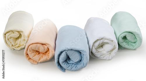 folded blankets, isolated on white background - 70931277