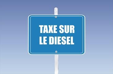 panneau taxe sur le diesel