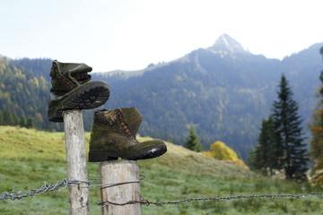 alte Bergschuhe