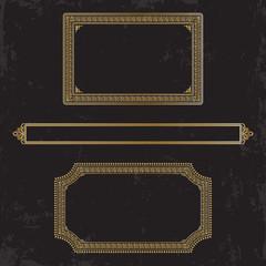 Three gilt decorated frames