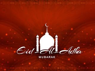 Glittering Eid Al Adha mubarak card design