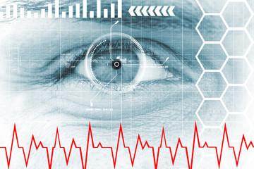 Human, digital eye