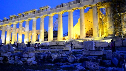 Parthenon Athens Greece at night