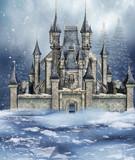 Baśniowy zamek zimą