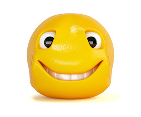 Cartoon head with smile