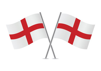 England flags. Vector illustration.