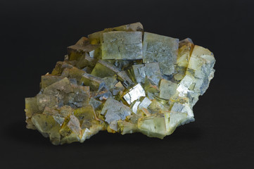 Huge Fluorite, Vignola, Italy. Isolated on black, 38cm across.