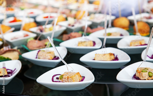 Food for cocktail on wedding party - 70935210
