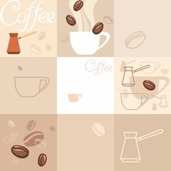 Фон, кофе. Background of coffee.