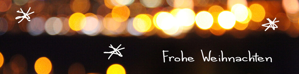 frohe weihnachten bokeh banner