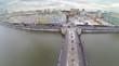 Luzhkov bridge to Baltchug island in Moscow, Russia