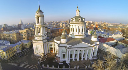Beautiful Martin Confessor Church at winter in Moscow, Russia