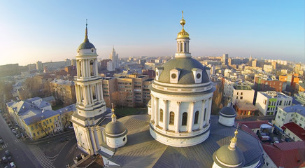 Beautiful Martin Confessor Church at winter sunny day in Moscow,
