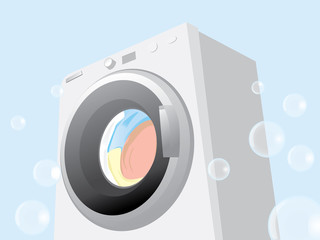 washing machine running